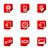 lucido · set · icone · web · 14 · Piazza · Rossa - foto d'archivio © Fyuriy