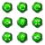lucido · set · icone · web · verde · colore - foto d'archivio © Fyuriy