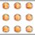 набор · веб-иконы · металлический · круга - Сток-фото © Fyuriy