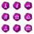 набор · веб-иконы · фиолетовый · цвета - Сток-фото © Fyuriy