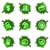 verde · buco · set · lucido · icone · web - foto d'archivio © Fyuriy