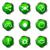 lucido · set · icone · web · 10 · verde - foto d'archivio © Fyuriy