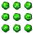 establecer · iconos · de · la · web · 12 · verde - foto stock © Fyuriy