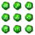 lucido · set · icone · web · 15 · verde - foto d'archivio © Fyuriy