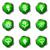 lucido · set · icone · web · 18 · verde - foto d'archivio © Fyuriy