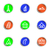 lucido · set · icone · web · colore · cerchio - foto d'archivio © Fyuriy