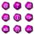 набор · веб-иконы · 13 · фиолетовый - Сток-фото © Fyuriy