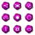 набор · веб-иконы · 10 · фиолетовый - Сток-фото © Fyuriy