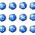 lucido · set · 12 · icone · web · blu - foto d'archivio © Fyuriy