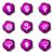 набор · веб-иконы · 18 · фиолетовый - Сток-фото © Fyuriy