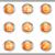 lucido · set · icone · web · 25 · metallico - foto d'archivio © Fyuriy