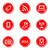 webアイコン · 赤 · 人気のある · コンピュータ · 音楽 - ストックフォト © fyuriy