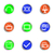 lucido · set · icone · web · 30 · colore - foto d'archivio © Fyuriy