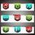 Color vector icons set. Vector navigation template stock photo © Fyuriy