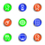 lucido · set · icone · web · 22 · colore - foto d'archivio © Fyuriy