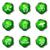 lucido · set · icone · web · 17 · verde - foto d'archivio © Fyuriy
