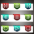 color vector icons set vector navigation template stock photo © fyuriy