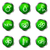 lucido · set · icone · web · 19 · verde - foto d'archivio © Fyuriy