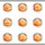 lucido · set · icone · web · metallico · cerchio - foto d'archivio © Fyuriy