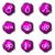 набор · веб-иконы · 19 · фиолетовый - Сток-фото © Fyuriy