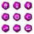 набор · веб-иконы · 14 · фиолетовый - Сток-фото © Fyuriy
