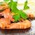 préparé · crevettes · plateau · citron · persil · vertical - photo stock © g215