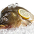 fresh carp with lemon on ice stock photo © g215