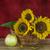 tournesols · vase · bouquet · jaune · métal · fleurs - photo stock © g215