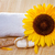 spa background with natural soap bath salts and sunflower stock photo © g215