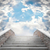 marble staircase leading to the cloudy sky stock photo © g215