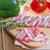 szalonna · spárga · fából · készült · étterem · vacsora · piros - stock fotó © g215
