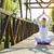 csinos · nő · jóga · meditáció · lótusz · pozició · zöld · fű - stock fotó © gabor_galovtsik