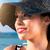 女性 · 帽子 · 夏 · 白人 · 女性の笑顔 · 少女 - ストックフォト © gabor_galovtsik