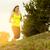 lopen · vrouw · lopen · platteland · mooie · zonsondergang - stockfoto © gabor_galovtsik