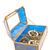 mavi · cam · takı · kutu · yalıtılmış · beyaz - stok fotoğraf © gavran333
