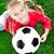 kobiet · piłkarz · portret · szczęśliwy · piłka · nożna · piłka · nożna - zdjęcia stock © gekaskr