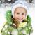 boldog · kislány · kalap · portré · arc · gyermek - stock fotó © gekaskr
