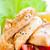 ızgara · tavuk · meme · sarımsak · kızarmış · ekmek · parçaları · marul - stok fotoğraf © gekaskr