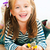 glimlachend · meisje · weinig · chroom · gezicht · bouw - stockfoto © gekaskr