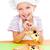 kislány · pizza · mosolyog · fiatal · lány · fehér · lány - stock fotó © gekaskr