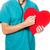 orvos · megvizsgál · piros · szív · férfi · orvos · alakú - stock fotó © gekaskr