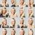 on · altı · yüz · ifadeleri · kadın · gülümseme · kadın · portre - stok fotoğraf © gemenacom