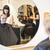 salão · de · cabeleireiro · situação · sorrir · cadeira · espelho · adolescente - foto stock © gemenacom