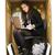 me · para · baixo · papel · mulher · tiro · estúdio - foto stock © gemenacom