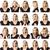 húsz · portré · nő · kifejezések · boldog · női - stock fotó © gemenacom
