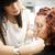 szépségszalon · helyzet · smink · mosoly · festék · szék - stock fotó © gemenacom