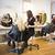 kuaför · gülümseme · sandalye · ayna · genç - stok fotoğraf © gemenacom