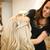 美容院 · 笑顔 · 椅子 · ミラー · 代 - ストックフォト © gemenacom
