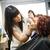 situação · make-up · sorrir · pintar · cadeira - foto stock © gemenacom