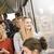 mutlu · kadın · otobüs · kadın · pencere · güzellik - stok fotoğraf © gemenacom